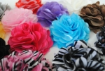 "3"" Satin and Tulle Puff Flowers"